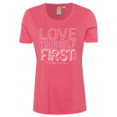 wholesale Fashion & Apparel: Ladies T-Shirt Love First, coral, assorted size