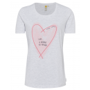 wholesale Shirts & Tops: Ladies T-Shirt Popcorn, snow melange, assorted G
