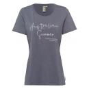 Großhandel Fashion & Accessoires: Damen T-Shirt Australian Summer, M, anthrazit