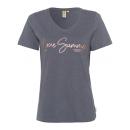 groothandel Kleding & Fashion: Dames T-Shirt Summer Love, antraciet, ...