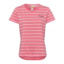 Hölgyek T-Shirt Csíkos szerelem, korall / fehér /