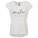 groothandel Kleding & Fashion: Damestop Smile and Sunshine, wit, diverse maten