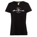Hölgyek T-Shirt Kávé és mosoly, fekete, válogatott