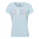 wholesale Fashion & Apparel: Ladies T-Shirt Summer Feelings, light blue, assort