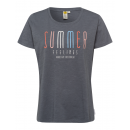 wholesale Fashion & Apparel: Ladies T-Shirt Summer Feelings, anthracite, assort