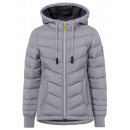 wholesale Fashion & Apparel: Ladies quilted jacket with hood, gray, assorted si