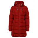 wholesale Fashion & Apparel: Ladies quilted jacket long form with hood, red, so