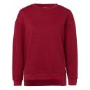 Großhandel Sonstige: Damen Sweat Rundhals Struktur Raute , rot, sortier
