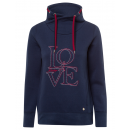 groothandel Kleding & Fashion: Damessweatshirt Tube Love, navy, diverse maten