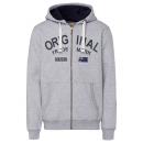 Großhandel Fashion & Accessoires: Herren Sweatjacke Original, grau melange