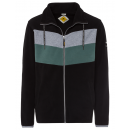 wholesale Coats & Jackets: Men's fleece jacket Heritage Stripes, black