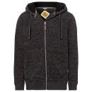 wholesale Fashion & Apparel: Men fleece jacket melange, anthrazitbr>
