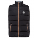 Großhandel Mäntel & Jacken: Herren Steppweste, schwarz