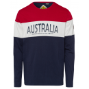Herren Langarmshirt Australian Classics marine/rot