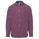 Herren Hemd Checked Classics, rot/marine/weiss