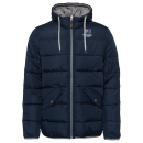 wholesale Coats & Jackets: Men's Quilted Jacket Hood, navy