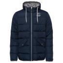 Men's Quilted Jacket Hood, navy