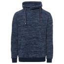 Heren fleece hoodie melange, marine, 3XL