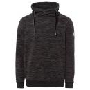 Fleece herenhoodie melange, antraciet, XL
