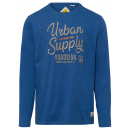 Großhandel Shirts & Tops: Herren Langarmshirt Urban Supply, blau