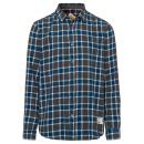 wholesale Shirts & Blouses: Men's shirt flannel Rebels, blue / gray