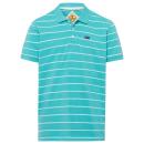 hurtownia Fashion & Moda: Koszule męskie w paski polo, benzyna / niebieski,