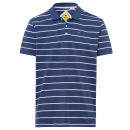 Men's polo shirt stripes, navy / white, assort