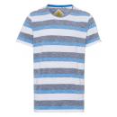 hurtownia Fashion & Moda: panowie T-Shirt Swan River Stripes, biały / ...