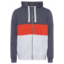 Großhandel Mäntel & Jacken: Herren Sweatjacke Swan River, snow/orange/anthrazi