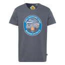Men's print shirt Trail Adventure, anthracite,