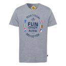 wholesale Fashion & Apparel: Men's print shirt Fun Aussie, gray melange, so