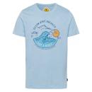 wholesale Fashion & Apparel: Men's print shirt Ocean Wave Breaker, light bl