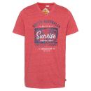 grossiste Vetement et accessoires: messieurs T-Shirt Lever du soleil, mélange rouge,
