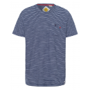 Men's T-Shirt Sailing stripes, navy / white, a