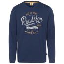 hurtownia Fashion & Moda: Męska koszulka z długim rękawem Roadsign , morski,