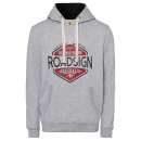 Men's hoodie Roadsign Logo, gray melange, sort