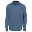 wholesale Shirts & Blouses: Men's long sleeve shirt Hit the Trail, blue, a