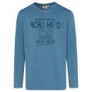 hurtownia Fashion & Moda: Męska koszulka work hard longsleeve, denim ...