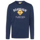 nagyker Ruha és kiegészítők: Férfi hosszú ujjú póló logó Roadsign , 2XL, tenger