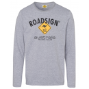 wholesale Fashion & Apparel: Men's longsleeve logo Roadsign , M, gray ...