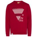 groothandel Kleding & Fashion: Heren sweatshirt City Survivor, rood, diverse mate