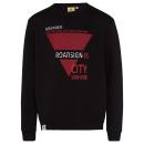 groothandel Kleding & Fashion: Heren sweatshirt City Survivor, zwart geassorteerd