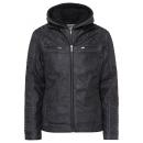 wholesale Fashion & Apparel: Men's PU jacket Roadsign , black, assorted siz