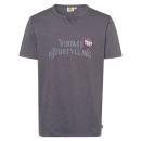 Urak, Henley T-Shirt Motorkerékpár, antracit, sor