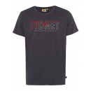 wholesale Fashion & Apparel: Men logo T-Shirt Sydney, 4XL, anthracite