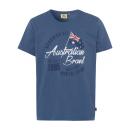 wholesale Jeanswear: Men logo T-Shirt Australian Flag, denim blue, like