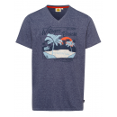 hurtownia Fashion & Moda: Męska T-Shirt Wategos Beach, morski melanż, sort