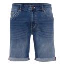 Herren Jeans Bermuda, blue denim, sortierte Größen