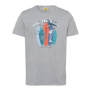 groothandel Kleding & Fashion: Mannen T-Shirt Ride the Waves, grijs, diverse mate