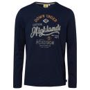 wholesale Fashion & Apparel: Men's long-sleeved shirt Highlands, navy, ...